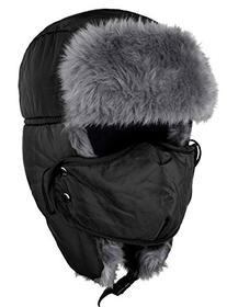 Odema Unisex Nylon Russian Style Winter Ear Flap Hat Black