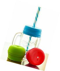 O-Sip! Silicone Straw Lids , Fits Virtually any Cup or Glass