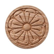 Oak Embossed Carving, 2-1/4'' diameter