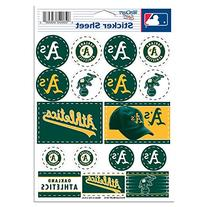 "MLB Oakland A's Vinyl Sticker Sheet, 5"" x 7"
