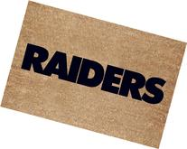 Oakland Raiders Flocked Door Mat