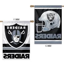 Oakland Raiders NFL Premium 2-Sided Vertical Flag