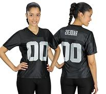 Oakland Raiders NFL Womens Team Dazzle Jersey, Black