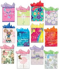 All Occasion Gift Bag Set of 12 Large Gift Bags Embellished
