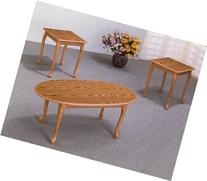 Occasional Table 3-pc Set in Oak Finish and Wood Grain