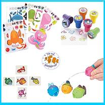 Ocean/Sea Party Favors for 12 - Ocean Stampers , Make-a-Fish