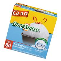 Glad OdorShield Tall Kitchen Drawstring Trash Bags, Fresh