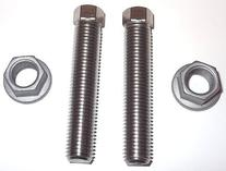 NEW KTM OEM STAINLESS STEEL CHAIN ADJUSTER BOLT W/ NUTS KIT