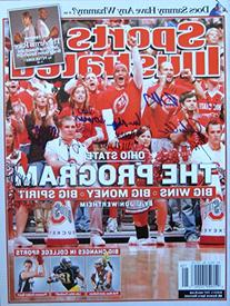Ohio State Cheerleaders 3/5/07 autographed magazine