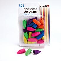 Officemate OIC Achieva Pencil Eraser Caps, 24 in a pack,
