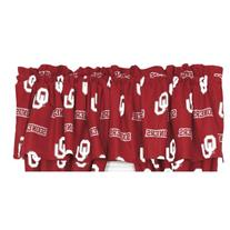College Covers Oklahoma Sooners Printed Curtain Valance - 84