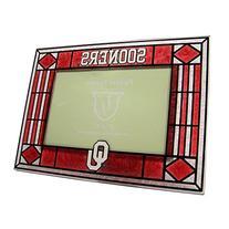Oklahoma Sooners Crimson Art-Glass Horizontal Picture Frame