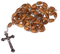 Holy Land Market Olive Wood Rosary with Soil from Bethlehem