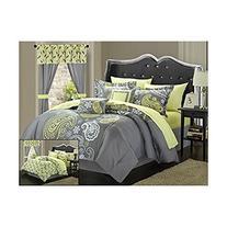 Chic Home 20-Piece Olivia Paisley Print Reversible Comforter
