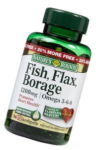 Nature's Bounty Fish, Flax, Borage 1200 mg Omega 3-6-9, 72