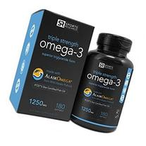 Omega-3 Fish Oil 1250mg  180 gelcaps Contains the highest