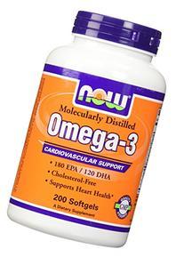 Now Foods OMEGA-3 FISH OIL 200 Softgels