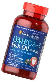 Vitamin World Omega-3 Fish Oil, 250 Count