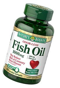 Nature's Bounty Omega-3 Fish Oil, Odorless, 1000mg, 100
