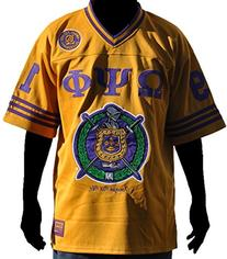 Omega Psi Phi Fraternity Men's Football Jersey Large Gold