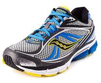 Saucony Men's Omni 12 Running Shoe,Grey/Blue/Yellow,11 M US