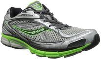 Saucony Men's Omni 12 Running Shoe,Silver/Green/Black,9.5 M
