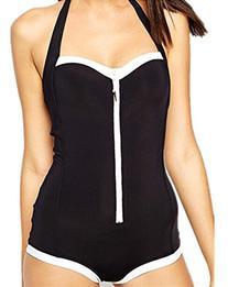 Ecollection Womens One Piece Boyleg Swimsuit