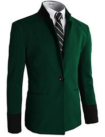 H2H Men's Casual Double-breasted Jacket Slim Fit Blazer