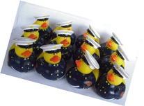 One Dozen  Marine Rubber Duck Party Favors