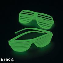 Fun Express Plastic Glow-in-The-Dark Shutter Shading Glasses