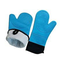 One Pair Silicone Heat Resistant Grilling BBQ Oven Mitts