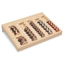 -- One-Piece Plastic Countex II Coin Tray w/6 Compartments,