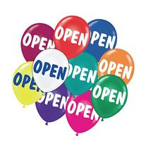 Open Balloons, 17, Package of 25