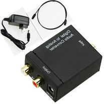 Digital Optical Coaxial Toslink Signal to Analog RCA L/R