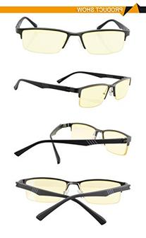 DUCO Optiks Semi Rimless Video Computer Gaming Glasses with