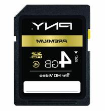 PNY Optima 4GB SDHC Class 4 Flash Memory Card P-SDHC4G4-EF