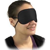 OptiSex Satin Love Double Strap Blindfold Eye Mask, Mystic