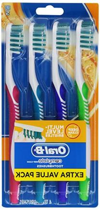 Oral-B Complete Deep Clean Soft Bristles Toothbrush, 4 Count