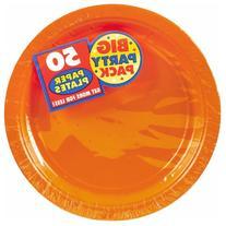 "Big Party Pack Orange Peel Paper Plates |  9"" | Pack of 50"