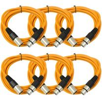 SEISMIC AUDIO  Orange 10' XLR Microphone Cables