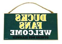 Oregon Ducks Official NCAA Wood Welcome Sign by SJT