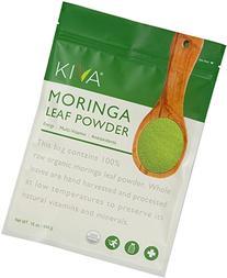 Kiva Organic Moringa Leaf Powder - Non-GMO and RAW