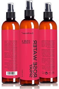 ORGANIC ROSE WATER SPRAY - 100% Pure & Natural Facial Toner