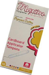 Maxim Hygiene Products Organic Cotton Cardboard Applicator