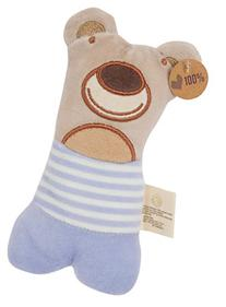 Olives and Pickles Organic Teething Rattle, Pablo The Bear, Small