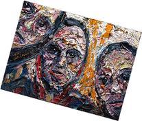 original oil painting large sculpture art paint