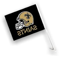 New Orleans Saints Car Flags - Set of Two