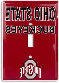 OSU Ohio State Metal Light Switch Plate