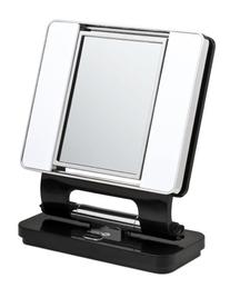 Ott-lite Natural Daylight Makeup Mirror, Black/chrome