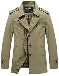 Clothing Men's Outercoat Jacket Solid Cotton Fashion
